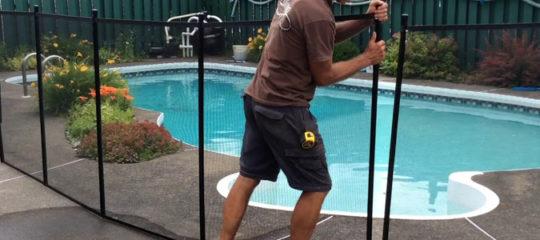 barrière amovible pour piscine